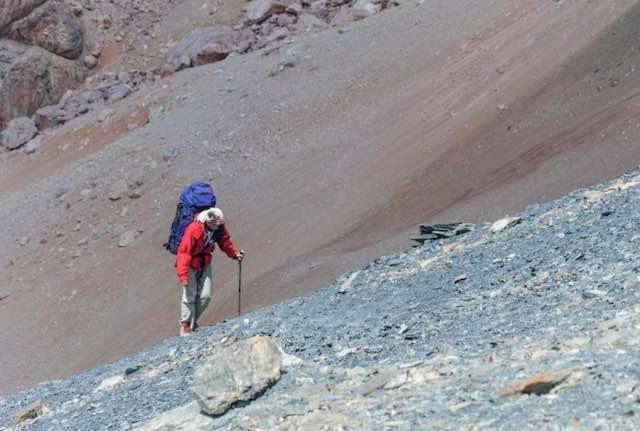 Trekking man