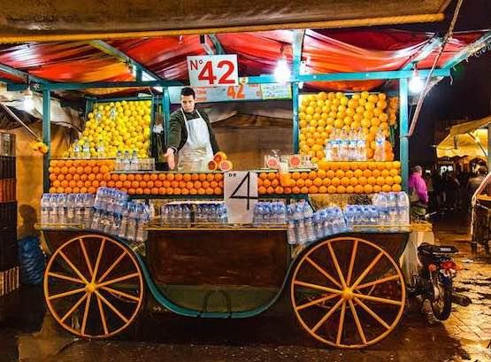 Orange stall Marrakech